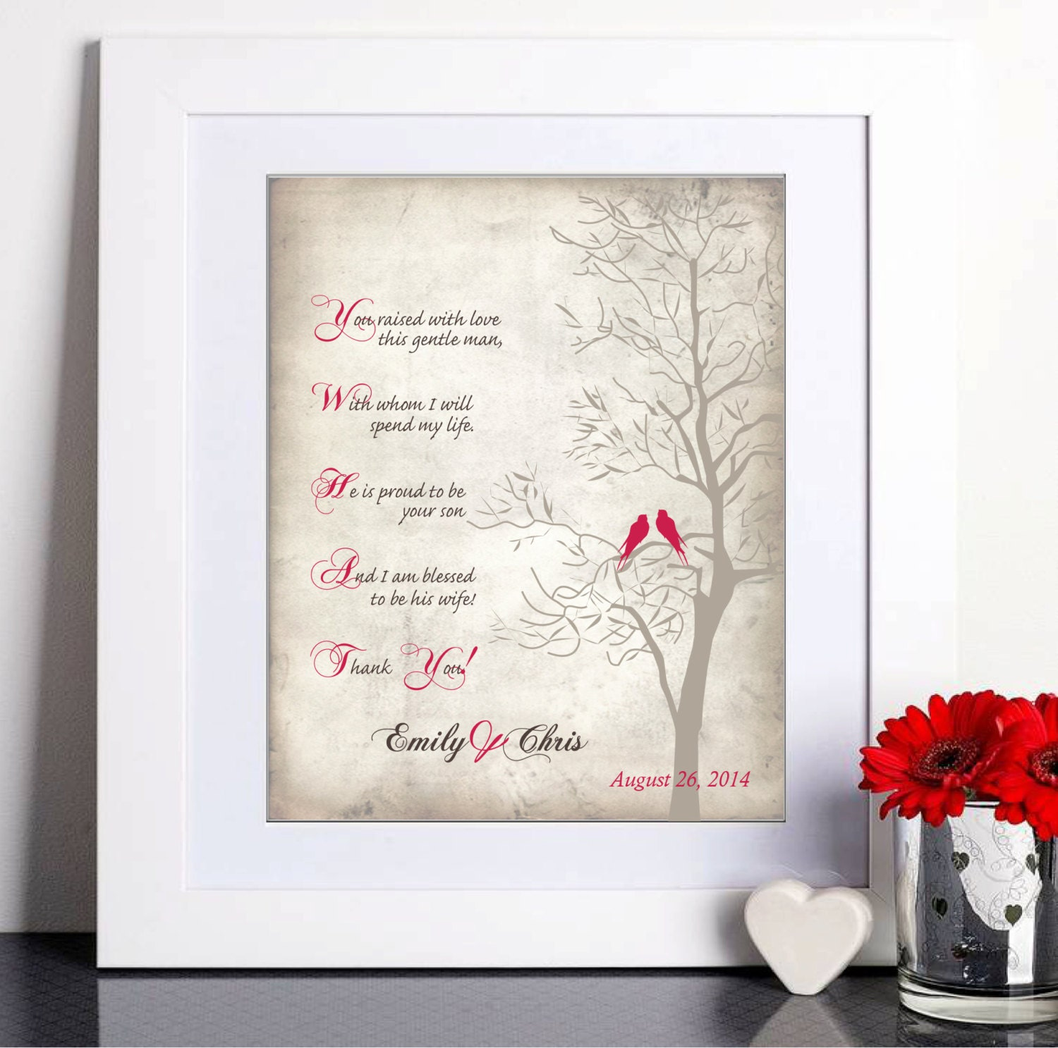 Thank You Wedding Gifts For Mum : Wedding Gift for Mother In-Law Thank you gift Mother of