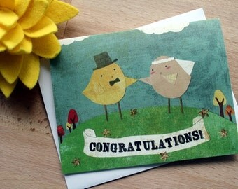 CARD: Happily Ever Afte - Wedding Congratulations, Newly Weds