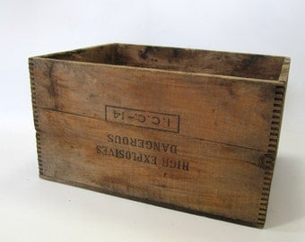 Wood Box, Storage Box, Advertising Box, Explosive, Dynamite