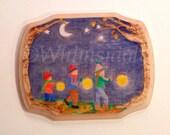 Custom Wooden Artwork, Woodburned with Watercolors