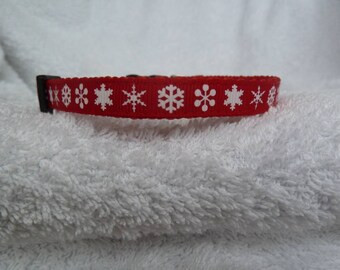 Handmade Snowflakes Christmas Cat Collar