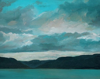 Art card print- Bear Lake In The Evening-   by Lauriann Wakefield  of Bear Lake