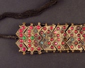 Kashmiri old armband from India, old indian jewelry, tribal armlet, Kashmiri jewelry,  ethnic jewelry, tribal belly dance jewelry