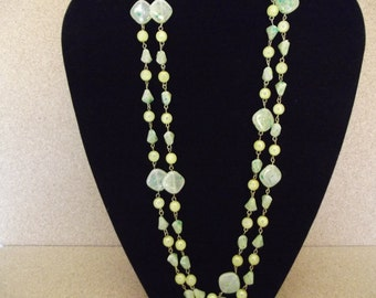 Vintage Extra Long Lucite Necklace