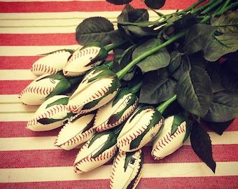 12 Baseball Flower Rose Bud