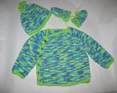Baby Kimono Style Knitted outfit for 6 month old