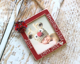 Baby's First Christmas Ornament Personalized Custom Christmas Ornament GIFT