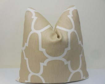 Kravet Riad Pillow Cover in Dune - Windsor Smith - Designer Pillow Cover -14 x 24, 18 x 18. 20 x 20. 22 x 22. 24 x 24, 26 x 26