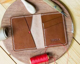 Brown Leather Bifold Wallet Italian Veg Tan