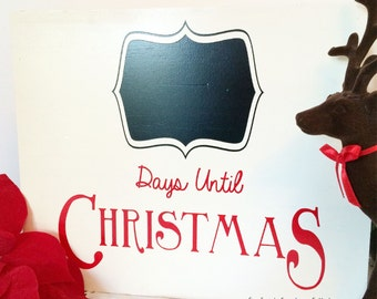 Wood Christmas Sign, Holiday Sign, Chalkboard Sign HD-4