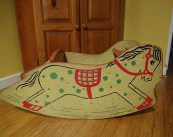 1940s Rocking Horse Etsy
