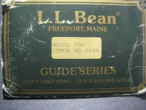 Vintage fly reel spool l l bean collectible gear for Ll bean fishing