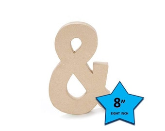 Paper Mache Ampersand - 8 Inch - Craft Supplies and Tools
