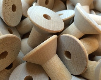Large Wood Thread Spool, 10 pcs