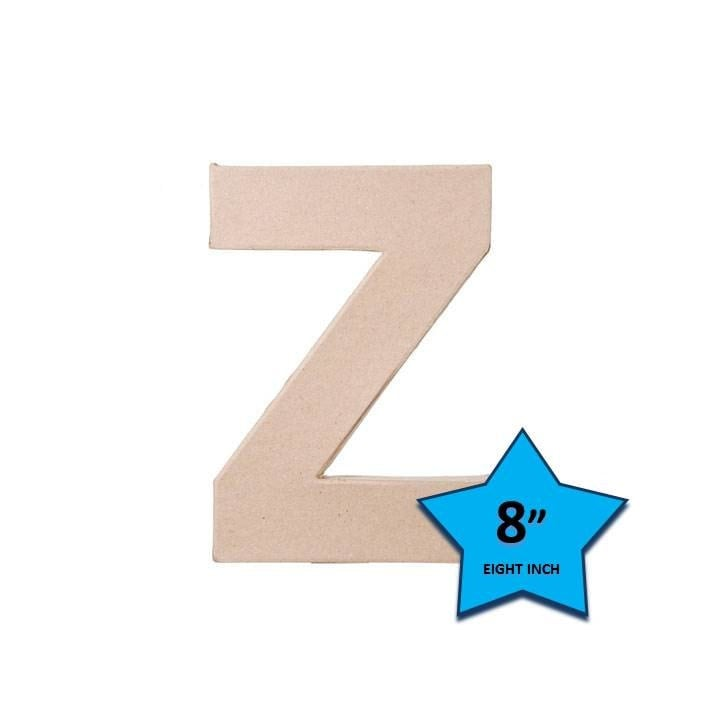 Paper mache cardboard letters 8 inch letter z paper craft for 24 cardboard letters