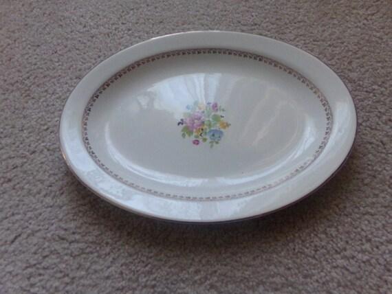 Vintage W S George Derwood Oval Platter