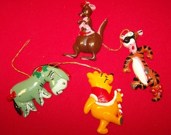 Winnie the Pooh Christmas Ornaments Tigger Pooh Kanga Eeyore Christmas Ornaments Walt Disney Ornaments
