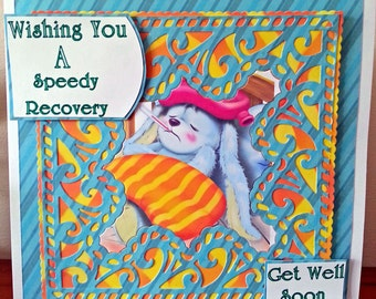 7x7  Size Get Well Soon Card