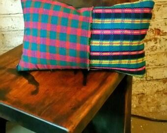 Handmade down filled pillow.