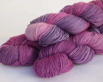 Hand dyed Double knit weight yarn 100% Superwash Merino  - Heather