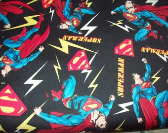 black background with superhero allover, any size