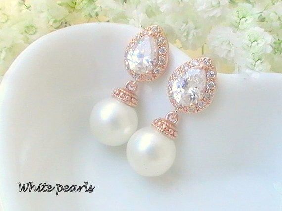 Wedding Gift Ideas For Bride From Maid Of Honor : Wedding Favor, Maid of Honor, Bridesmaid Gift Ideas, Pearl Earrings ...
