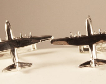 C130 Hercules Tie-Tack/Pin/Pendant/Charm/Earrings/Cuff Links in Sterling Silver