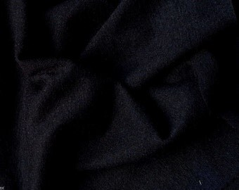 Wool Blend Jersey Knit Fabric by the Yard - Black