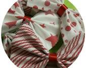 All 3 White & Red Christmas Bows Handmade by Charlie Heartbreaker