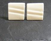 Porcelain cufflinks Wave set 4