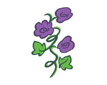 Flowers Violets Embroidery Pattern
