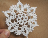 Silver crochet snowflakes (set of 6) Christmas home decors Christmas ornaments Wedding decors appliques
