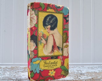 Antique St. Louis Chocolate Candy Box with Flapper Girl