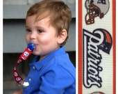 Lead-Free New England Patriots Pacifier Clip
