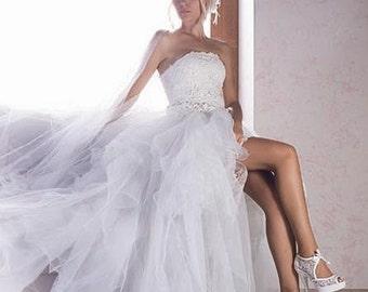 Handmade lace  ivory wedding shoe   + GIFT Bridal Pantyhose #8473