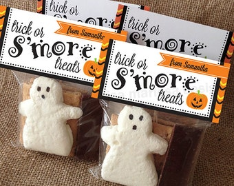 ... Halloween Treat Bag Toppers - Candy Treat Bag Toppers - Trick or Treat