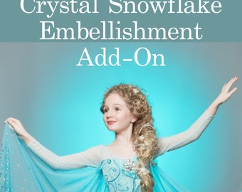 Snowflake Crystal Add On Embellishment for Frozen Elsa