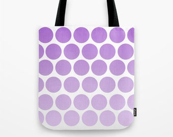 Funky tote bag Large tote bag Shopper bag Purple Beach Bag