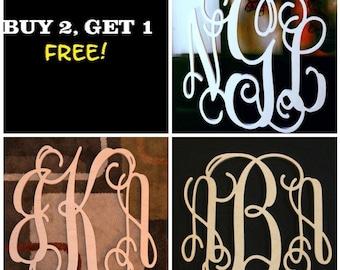 PACK DEAL - Wooden Monogram - Wooden Letters - Home Decor - Gift - Personalized Monogram - Wall Hanging - Door Hanger -  Wreath Decor-Custom