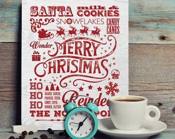 Christmas Subway Printable, Instant Download