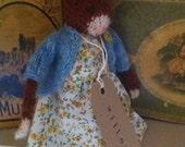 """RESERVED for Karen. Hand knitted Folk Cat. """"Willow"""""""