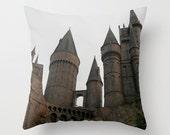 Hogwarts Castle Pillow, Wizarding World Harry Potter Pillow, Photo Pillow Case, Canvas Throw Pillow, Marauders Map, 16X16 Pillow Cover,18X18
