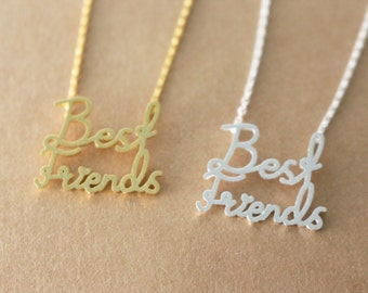 SALE: 50% OFF - Best friends necklace - Gold or Silver