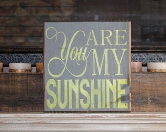 wooden sign, you are my sunshine, subway art, wall decor, wall art