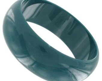 Green Plastic Bangle Bracelet Vintage 1970s