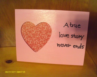 A True Love Story Never Ends Picture Frame Heart