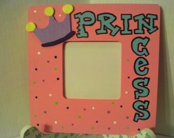 Princess Picture Frame Girl Light Pink