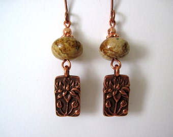 picture jasper and copper  earrings