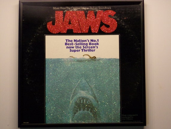 Glittered Record Album - JAWS - Soundtrack