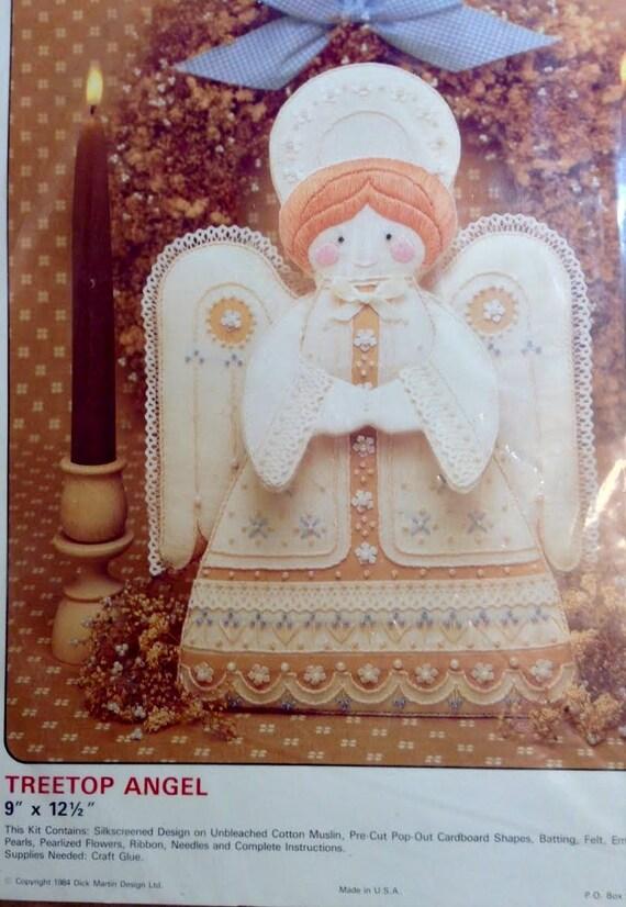 Angel Topper Kit, Christmas Tree Decoration, Tree Top Angel Kit, DIY Kit, Do It Yourself Christmas Craft